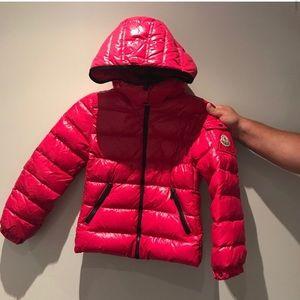 Moncler girls pink puffer jacket size 10